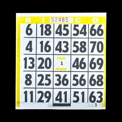 amazon com 1 on large print easy read bingo paper cards yellow