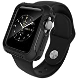 Apple Watch Series 2 42mm Case, Caseology [Vault Series] Flexible TPU Slim Body Shield [Matte Black] [Stealth Armor] for Apple Watch Series 2 – 42mm Only (2016)