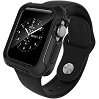 Apple Watch Series 2 42mm Case, Caseology [Vault Series] Flexible Slim Rugged Protective TPU Case [Matte Black...