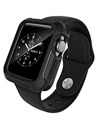 Apple Watch Series 3 / Series 2 Case 42mm, Caseology [Vault Series] Rugged Protective Slim Shock Resistant TPU Bumper [Matte Black] for Apple Watch Series 3 (2017) / Series 2 (2016) - 42mm Only