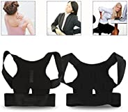 Sports Posture Corrector Spinal Support, Lumber Back Brace for Neck, Back and Shoulder Pain, Improve Slouch, T