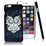 iPhone 6 Plus Case,CLOUDS [Night Glow ] Unique Owl with Luminous Cute Vingtage Cool Pattern PC Hard Skin Back Case Cover for iPhone 6 Plus-with HD Screen Protector