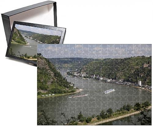 Photo Jigsaw Puzzle of River Rhine gorge from Loreley (Lorelei)