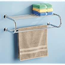 Whitmor 6060-3571-BB Chrome Shelf and Towel Rack