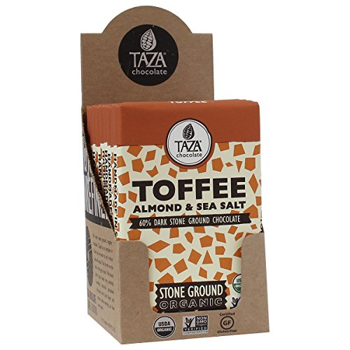 Taza Chocolate, Toffee, Almond & Sea Salt Amaze Bar, 2.5 oz bars, case of 10