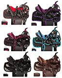 AceRugs 10″ 12″ 13″ Western Youth Pony Mini Miniature Horse Saddle TACK PAD Headstall REINS Breast Collar Set