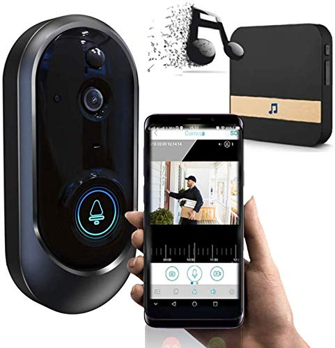 MYYYYI Intelligente drahtlose ovale Form WiFi Türklingel-Kamera-Telefon-Türklingel mit Kamera – Intelligente Video…