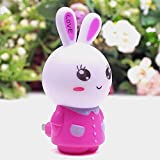 wall lamp kids - LED Plug-in Night Light for Kids - Baby Bedside Lamp with Light Sensor - Wall Night Lamp Pink Rabbit for Bedroom, Bathroom, Hallway, Starways or Any Dark Room
