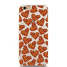 for iPhone 5/5S - Super Slim Case - Cute Pizza Pattern - Pizza Queen - Pizza Quotes - Funny Pizza Heart (C) Andre Gift Shop