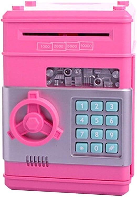 Yangyme Caja de Dinero Alcancía electrónica Mini ATM Contraseña ...