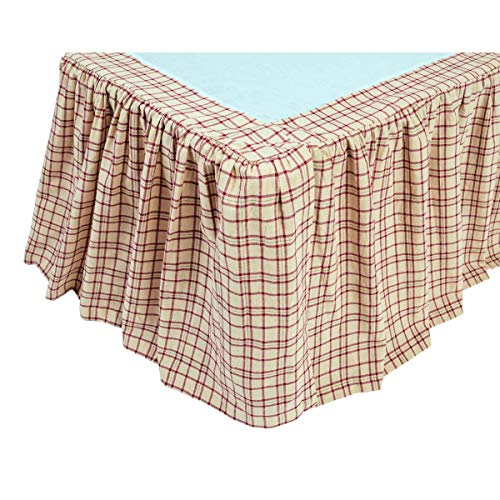 VHC Brands 10679 Tacoma Queen Bed Skirt 60x80x16 (Renewed)