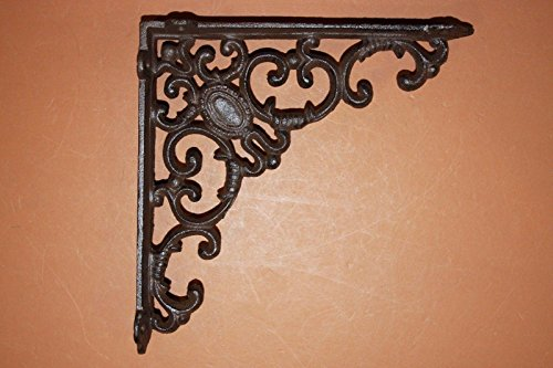 f 12 Vintage-look Old Victorian Cast Iron Shelf Brackets 8 inches, Volume Priced B-29 ()