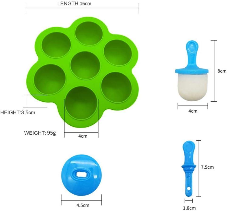 Verde Reutilizable De Grado Alimenticio Para El Hogar Silicona Diy Molde De Paleta Herramienta De Pastel De Hornear De Cocina Port/áTil 3T6B Molde De Helado