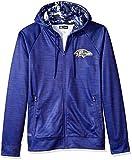 Zubaz NFL Baltimore Ravens Male Full Zip Camo Space Dye Hoodie, Small, Purple
