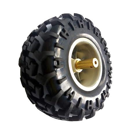Almencla Rueda de Goma de 130 mm para Coche Inteligente Neumático Robot Neumáticos - Plata