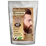 vegan brown dye - 1 Pack of Medium Brown Henna Beard Dye for Men - 100% Natural & Chemical Free Dye for Hair, Beard & Mustache - The Henna Guys