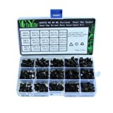 OUNONA 500pcs Nuts and Bolts Assortment- M3 M4 M5 Hex Socket Head Cap Screws Nuts Truss Head Screw Assortment Kit Screw Fasteners with Box(Alloy Steel )