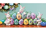 #1: Bunnies with Easter Eggs Decorative Centerpiece