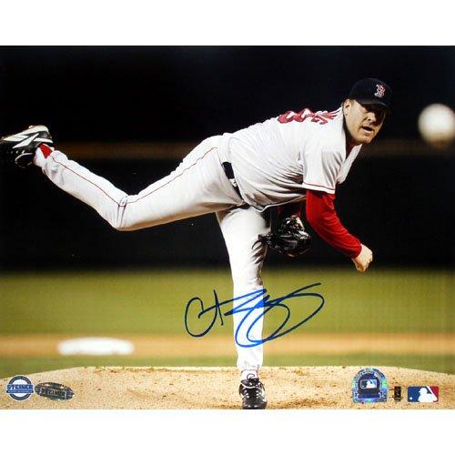 Steiner Sports MLBボストンレッドソックスCurt Schilling Pitching水平( 8 x 10インチ)   B000FHAY9U