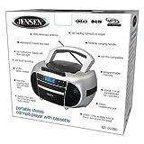 Jensen CD-550SMP3 Top-Loading Boombox CD/MP3 Black