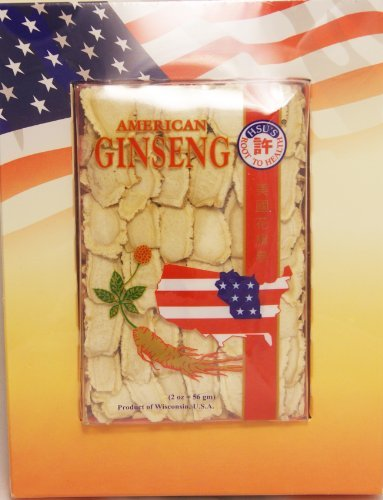 HSU's Ginseng SKU 126-2 | Mixed Medium-Large Slices | Cultivated Wisconsin American Ginseng Direct from Hsu's Ginseng Gardens | 许氏花旗参 | 2oz Box, 西洋参, B00HH1AIDY