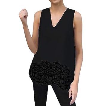SMILEQ Camisa de Las Mujeres Moda de Verano con Cuello en V ...