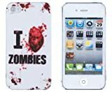 Zombie Apocalypse Embossed Hard Case for Apple iPhone 4, 4S (AT&T, Verizon, Sprint) - Includes DandyCase Keychain Screen Cleaner [Retail Packaging by DandyCase]