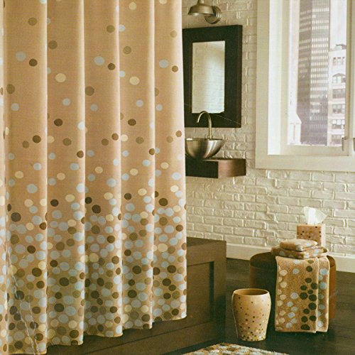 DS BATH Lucca Shower Curtain,Fabric Shower Curtain,Contemporary Shower Curtains for Bathroom,Print Bathroom Curtains,Waterproof Shower Curtain,72