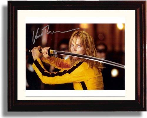 Framed Uma Thurman Autograph Replica Print - Kill Bill (Kill Bill Uma Thurman Photo)