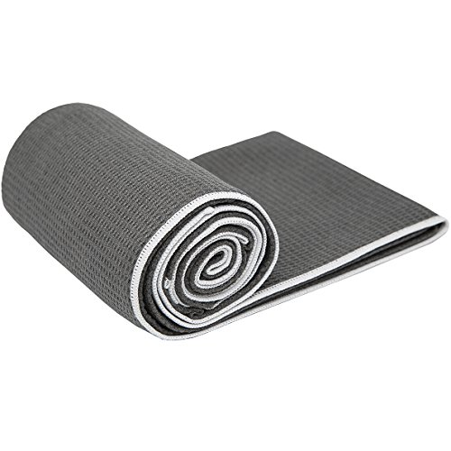 #2 Rated Hot Yoga Towel - Shandali Stickyfiber Yoga Towel - Mat-Sized, Microfiber, Super Absorbent, Anti-slip, Injury Free, 24