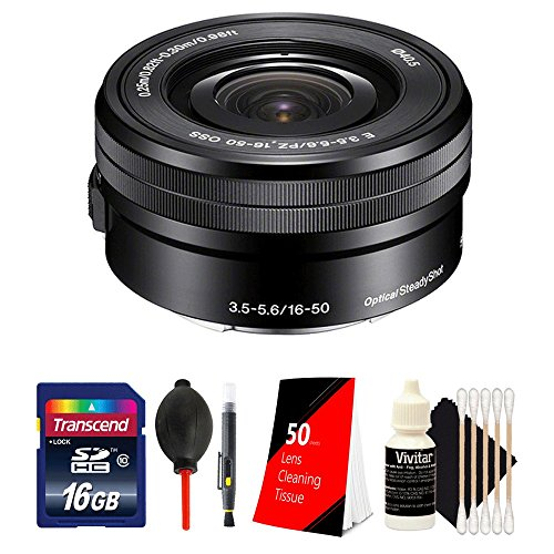 Price comparison product image Sony SELP1650 16-50mm Power Zoom Lensl and Accessory Bundle