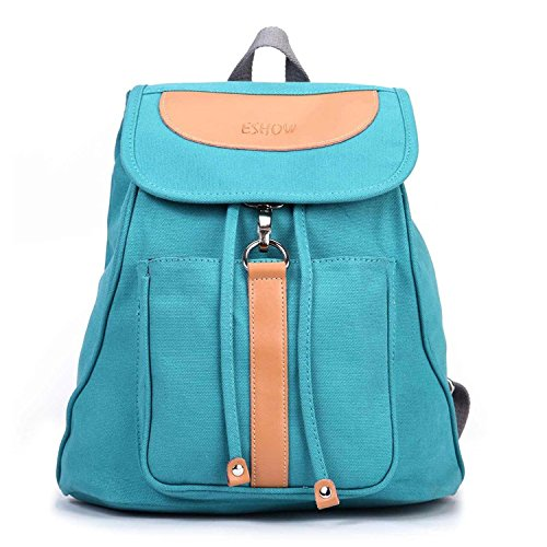 B dressy Girls Canvas Casual School Backpack Daypack Chic Blue