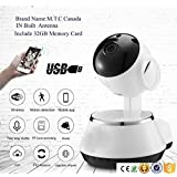 Wifi IP Network Wireless Home Camera Is Compact , Easy To install And very Portable , you Can Mount it On Wall , Or Adjust It on the Table , Anywhere indoor , Our Slim Designs Comes With a Built In Antenna , Speaker , and Microphone , You Can Use With Gadget to Stay in Touch With What you Love Or Monitor Any Surprises .Price Include 32GB memory Card Canadian Company Canadian Stock