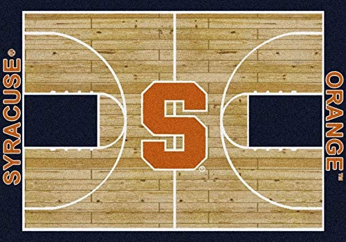 Milliken Syracuse College Home Court Area Rug, 10 9 x 13 2 , 01395 Court