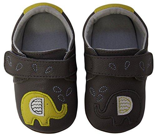 Rose & Chocolat Chaussures Bébé Zigzag Elephant Gris