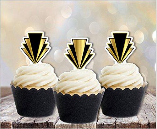 Art Deco Gatsby 1920s Edible Cupcake - Australia Gatsby