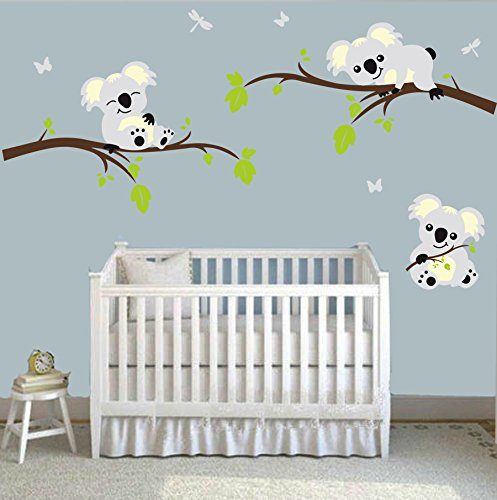 MAFENTTMThree-Koalas-Play-on-the-Tree-Branches-Wall-Decals-DIY-Vinyl-Wall-Sticker-Nursery-Baby-Wall-Stickers-Wall-Art-For-Kids-Rooms
