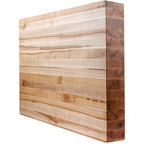Kobi Blocks Maple Edge Grain Butcher Block Wood Cutting Board 20''X26''X1.5'' by Kobi Blocks
