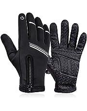 FENRIR Zimowe ciepłe rękawiczki dla mężczyzn kobiet, wodoodporne rękawiczki z antypoślizgowymi ekranami dotykowymi rękawice termiczne do sportów na świeżym powietrzu
