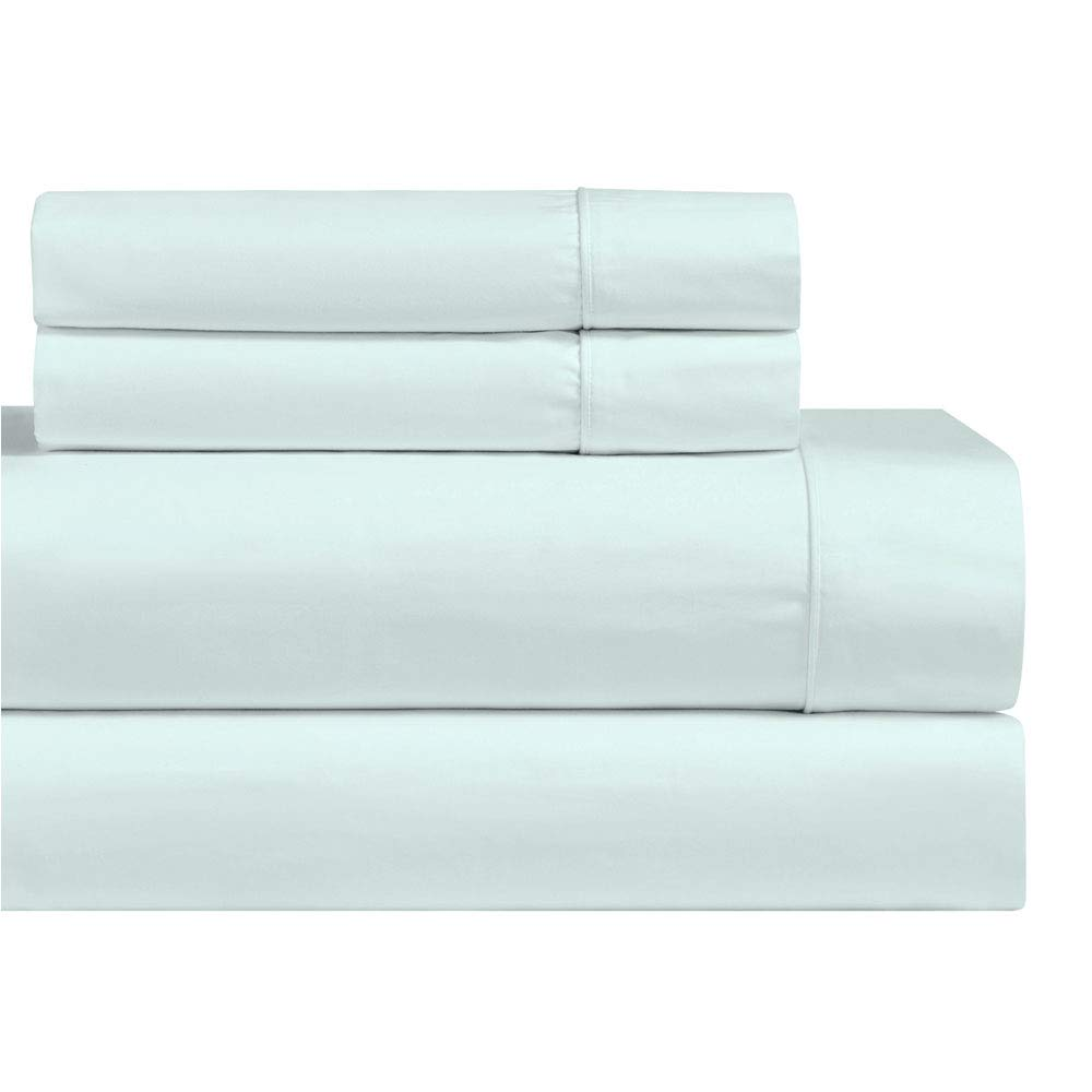 Royal Hotel 1000-Thread-Count Pillowcases Set, Cotton-Blend Wrinkle-Free 2 Pillow Cases, King Size, Solid Sea
