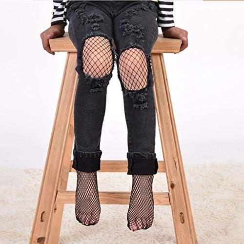 Size : Middle Grid Bas r/ésille pour b/éb/é /à la mode pour enfants Chaussettes Chaussette souple au sol