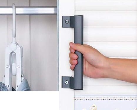 YUM Mango de aleación de aluminio gris puerta corrediza de balcón manija corrediza de granero manija de puerta de jardín manija montada lateralmente con tornillos de montaje: Amazon.es: Industria, empresas y ciencia