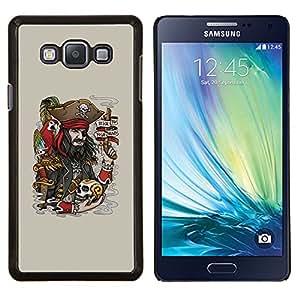 TECHCASE---Cubierta de la caja de protección para la piel dura ** Samsung Galaxy A7 ( A7000 ) ** --Divertido pirata y cráneo