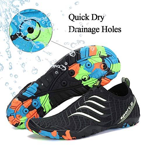 Shoes Beach Swim Mens Dry Aqua Black ASLISA Womens Water Pool Yoga Slip White Socks Quick Surf On Shoes 1SfCtwn