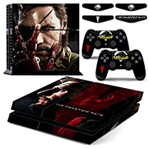 PS4 Metal Gear Solid V 5: The Phantom Pain Waterproof Vinyl Skin Decal Cover for Playstation 4 System Console and Controllers