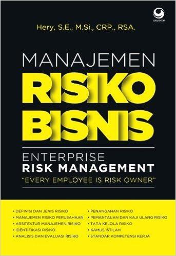 Manajemen Risiko Bisnis Indonesian Edition Hery 9786023750504 Amazon Com Books