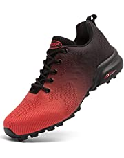 todaysunny Trail Running Shoes for Men Waterproof Breathable Hiking Running Walking Athletic Shoes Mens Comfortable Lightweight Non Slip Shoes Traction Trekking