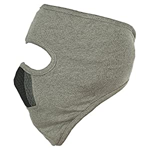 H-Store Lycra Face Mask (Grey, 1 Piece) for W...