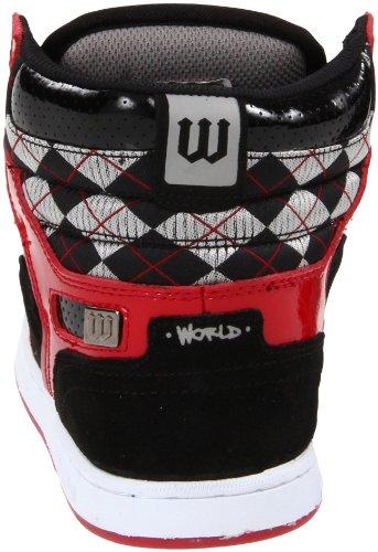 Da Scarpa Uomo Uk9 Nero Lux World Skate Rosso Industries Per qgppRUxwd