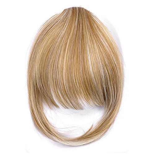 Ty.Hermenlisa Synthetic Clip in Hair Bang Extensions Heat Re